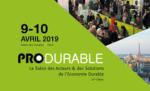 Produrable, les 9 &10 avril 2019